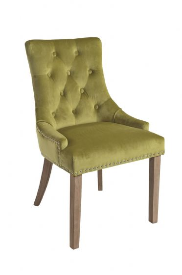 Duporth Green Velvet Upholstered Chair - UK Mainland Delivery